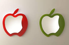 modern fruit modern mirror apple shaped idfdesign