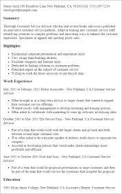 customer service resume templates customer service resume templates to impress any employer livecareer