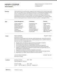 Sample Resume Project Manager Project Manager Resume Project Manager Exemple De Cv Program