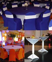 table and chair cover rentals spandex stretch products highboy table white spandex and table covers