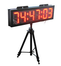 marathon race clock giant led clock for race timing 8