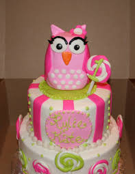 owl birthday cakes sweet pink owl birthday cake cakecentral