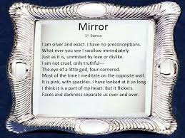 theme mirror mirror sylvia plath theme fresh essays