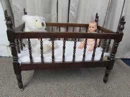 lot detail antique c 1880 u0027s solid wood baby crib vintage baby
