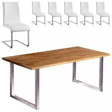 Esszimmertisch Paulina Essgruppe Trendline Move Groß 6 Stühle Weiß Dänisches