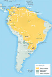 south america map bolivia south america map yellow fever cdc