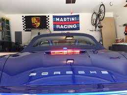 light purple porsche 3rd brake light decal