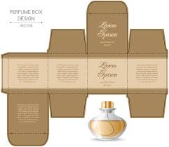 perfume box packaging template vectors material 07 vector cover