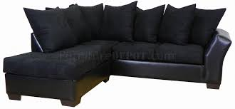 Black Fabric Sectional Sofas Black Fabric Bicast Modern Sectional Sofa