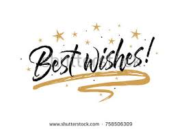 best wishes card beautiful greeting banner stock vector 758506309
