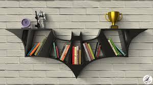 artstation batman logo bookshelf design mohamad imtinan nauval