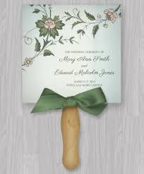 diy wedding program fans template fans print