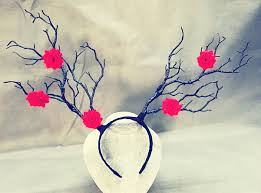 vintage artificial tree branches headband props staghorns flower