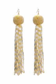 antoinette earrings mooney antoinette tassel earrings gold pipe and row