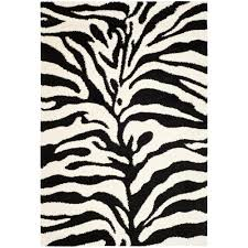 Safavieh Rugs Overstock by Safavieh Florida Shag Ivory Black 4 Ft X 6 Ft Area Rug Sg452