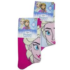 girls wholesale 2 colour disney frozen socks