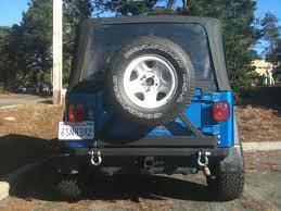 classic jeep wrangler smittybilt wrangler src classic rear bumper w d rings hitch