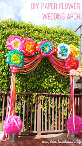 wedding arches how to make diy paper flower wedding arch dear handmade