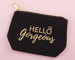 makeup bag hello gorgeous canvas makeup bag