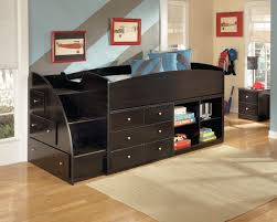 loft bed with closet bedroom bedroom furniture l shape brown stained wooden closet