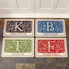 Monogrammed Rugs Outdoor by Personalized Initial Doormat Walmart Com