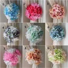 wedding backdrop accessories artificial craft hydrangea flowers background gauze curtain clip