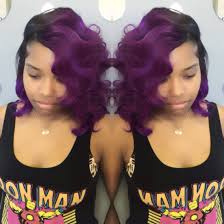 purple and red bobs bond in quickweave hair u0026 weaves