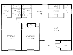 Duplex Floor Plan Simple House Floor Plans With Measurements Vdomisad Info