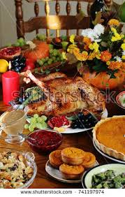 thanksgiving day traditional dishes thanksgiving stock photo
