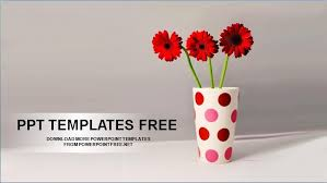 red flowers power point template free professional powerpoint