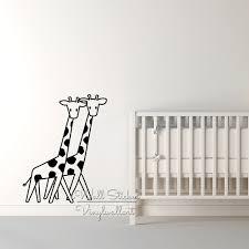 stickers animaux chambre b mignon girafe wall sticker bébé pépinière girafe sticker animaux