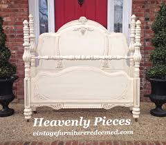 beautiful antique white bed frame general finishes design center