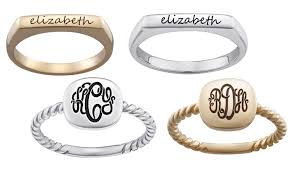 stackable engraved rings up to 55 personalized rings from limoges jewelry groupon