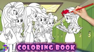 my little pony coloring book with animation equestria girls