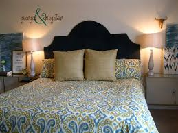 Easy Upholstered Headboard Home Design Diy Upholstered Headboard Architects Home Services