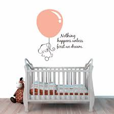 Nursery Room Wall Decor Elephant Wall Stickers Baby Elephant Pulled Balloon Decals
