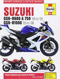 suzuki gsx r600 and 750 04 05 gsx r1000 03 08 service and