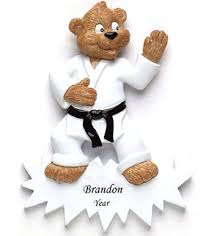 karate personalized christmas ornament
