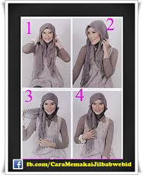 tutorial hijab turban ala april jasmine cara mudah memakai jilbab paris ala april jasmine cara memakai jilbab