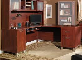 Bush L Shaped Desk With Hutch L Shaped Desk With Hutch Bush Image 1 Somerset 71 Onsingularity