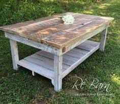Barn Wood Coffee Table White Shabby Farmhouse Reclaimed Wood Coffee Table With Shelf