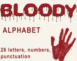 Halloween Letters Printable by Digital Bloody Alphabet For Scrapbooking Halloween Papercrafts