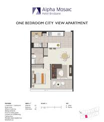 Apartment Accommodation Brisbane Alpha Mosaic Hotel Brisbane - One bedroom apartments brisbane