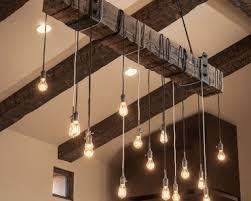 Industrial Chandelier Lighting Metal U0026 Beam Rustic Industrial Chandelier Id Lights