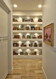 bookcase lighting ideas hall contemporary with hall bookcase built