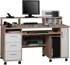 Schreibtisch Dunkelbraun Shopthewall Computertisch Schreibtisch Pc Tisch Lotta In Sonoma