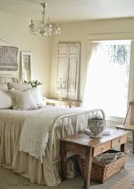 farmhouse bedroom salvaged architectural pieces and mismatched