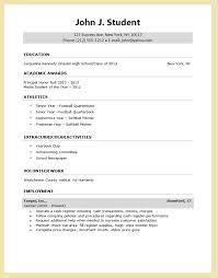 resume for high students applying to college resume template for college application