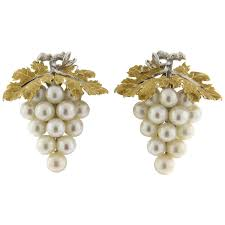 original earrings buccellati pearl gold grape vine earrings for sale at 1stdibs