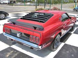 1969 mustang rear mustang mach i passenger side rear view